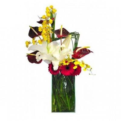 Arranjo Flores Finas Elegantes