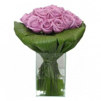 Arranjo de Rosas Lilás
