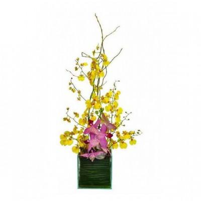 Arranjo Ikebana de Orquídea
