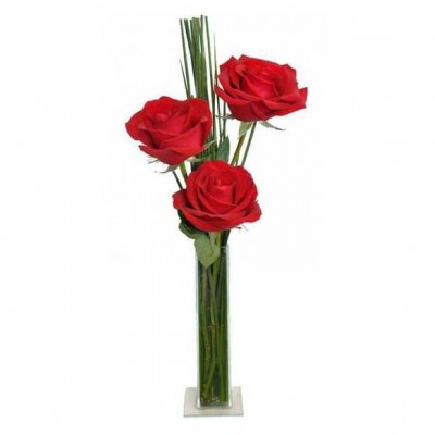 Arranjo Tri Rosas Vermelhas