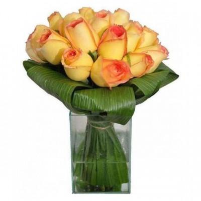 Rosas Ambiance no Vidro Médio