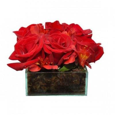 Arranjo Delicadeza de Rosas Vermelhas